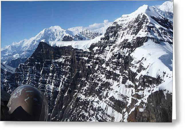 Flying Thru The Great Gorge Greeting Card by Joel Deutsch