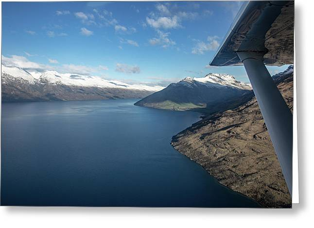 Flying To Queenstown Greeting Card