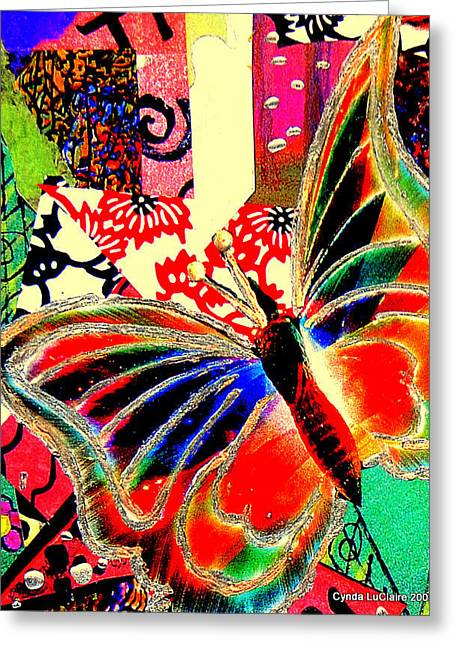 Flying Toward The Light Greeting Card by Cynda LuClaire