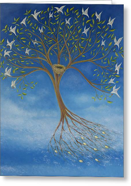 Flying Tree Greeting Card