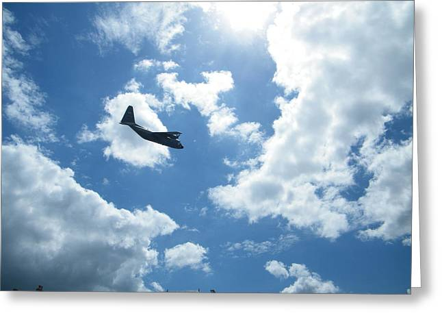 Flypast Greeting Card