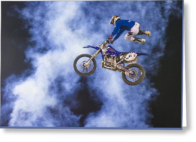 Fmx Motocross Greeting Card by Kobby Dagan