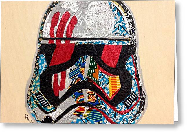 Storm Trooper Fn-2187 Helmet Star Wars Awakens Afrofuturist Collection Greeting Card