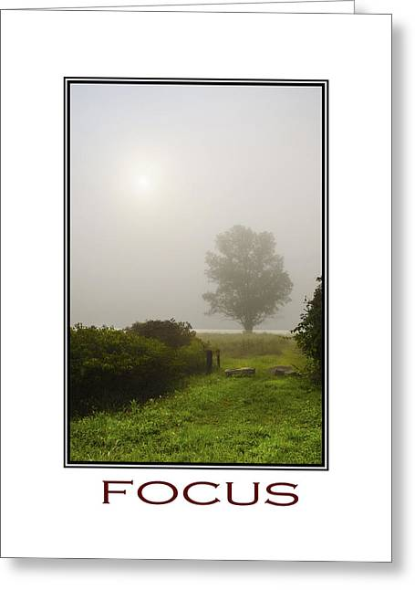 Focus Inspirational Motivational Poster Art Greeting Card by Christina Rollo