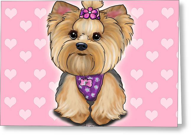 Fofa Hearts Greeting Card
