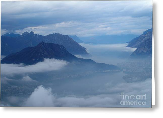 Fog And Clouds Greeting Card