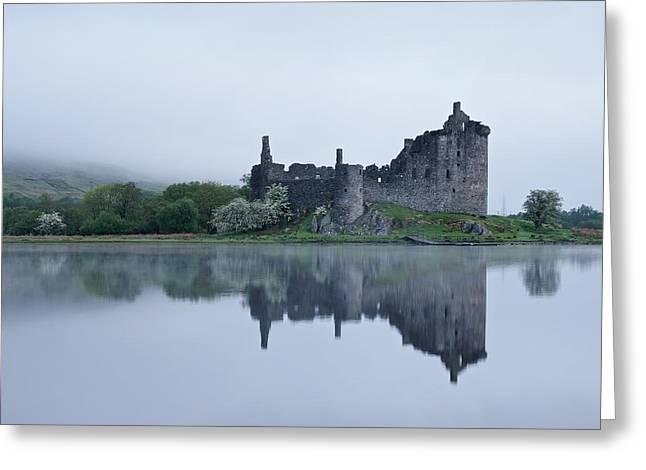 Fog At Kilchurn Castle Greeting Card