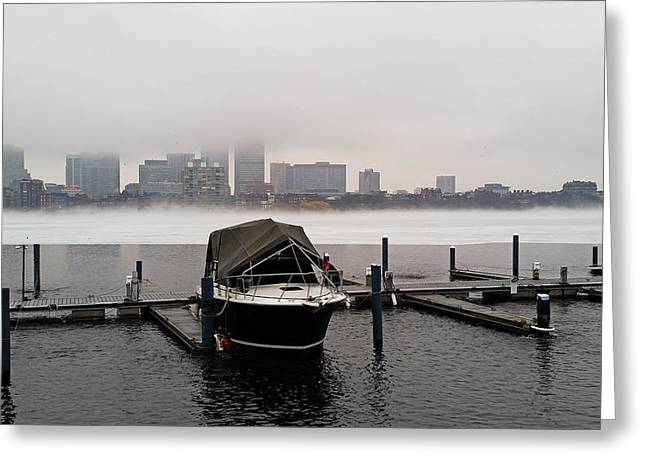 Fog Cover On The Charles River Greeting Card