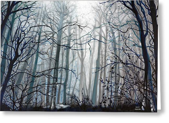 Fog Descending Greeting Card by Jerry Kirk