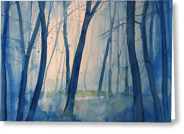 Fog In The Forest Greeting Card by Alessandro Andreuccetti
