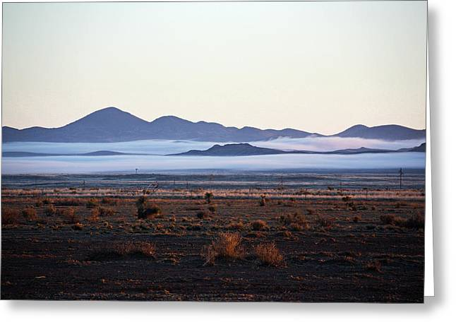 Fog In The Peloncillo Mountains Greeting Card