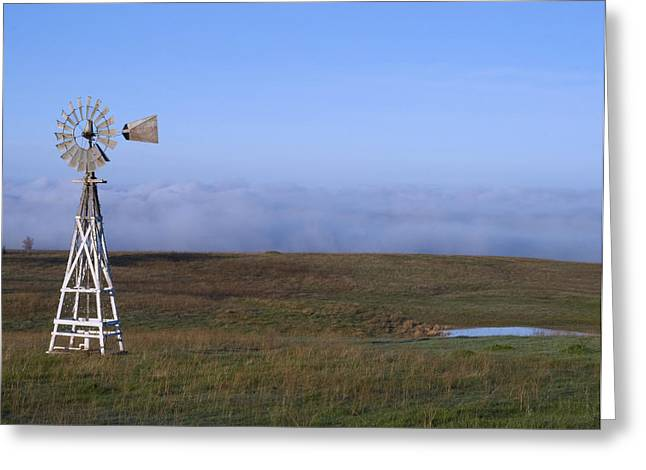 Greeting Card featuring the photograph Fog In The Valley by Randy Bayne
