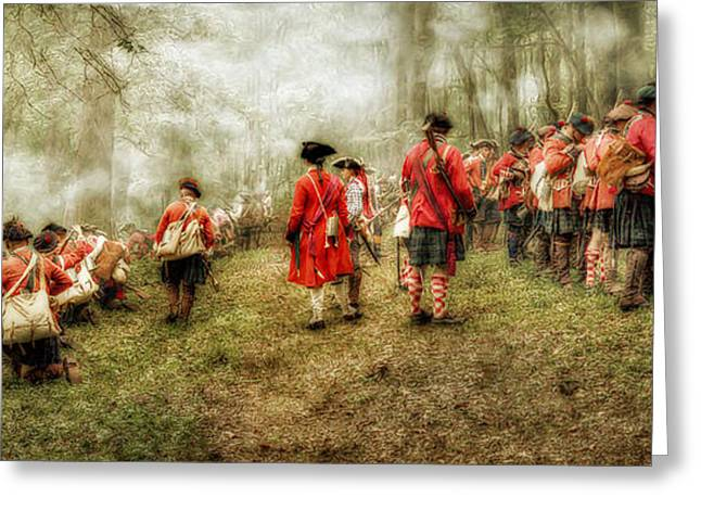 Loyalist Greeting Cards - Fog of War Battle Scene Greeting Card by Randy Steele