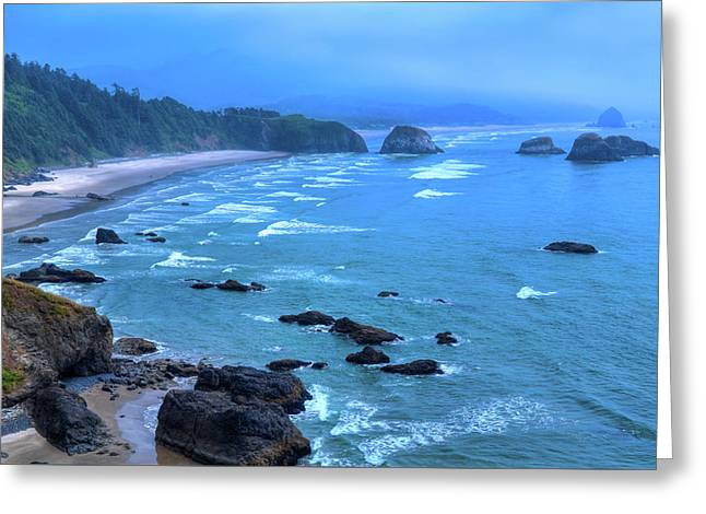 Fog On Cannon Beach Greeting Card by David Patterson