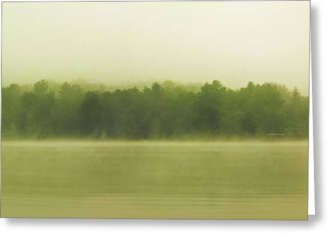 Fog On Deep Creek Lake Greeting Card
