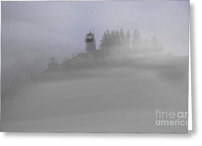 Fog On Owls Head Greeting Card