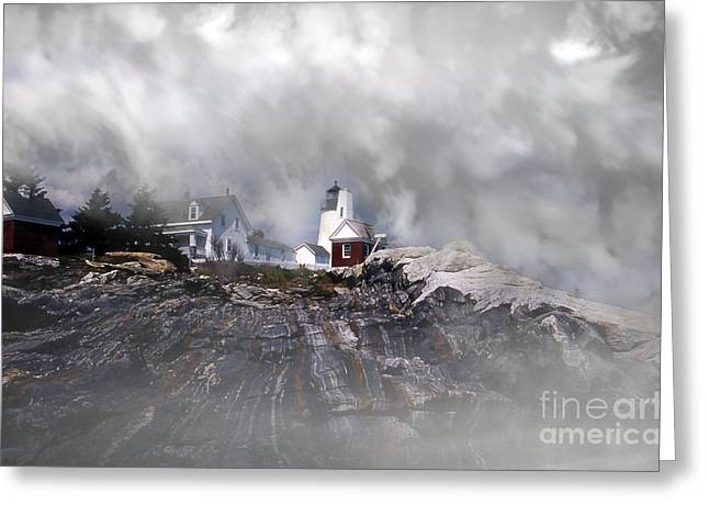 Fog On Pemaquid Point Greeting Card