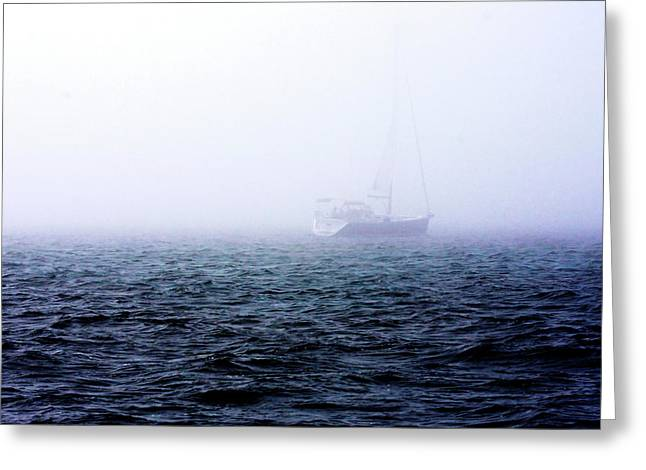 Fog On The Bay 1 Greeting Card by Alan Hausenflock