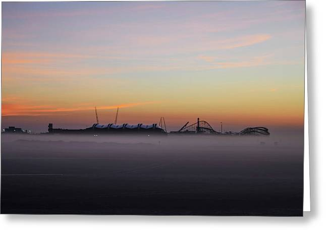 Fog On The Beach - Wildwood New Jersey Greeting Card