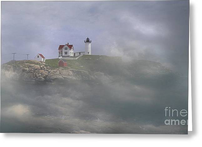 Fog On The Nubble Greeting Card