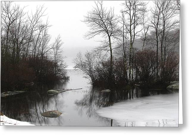 Fog On The Ponagansett Greeting Card