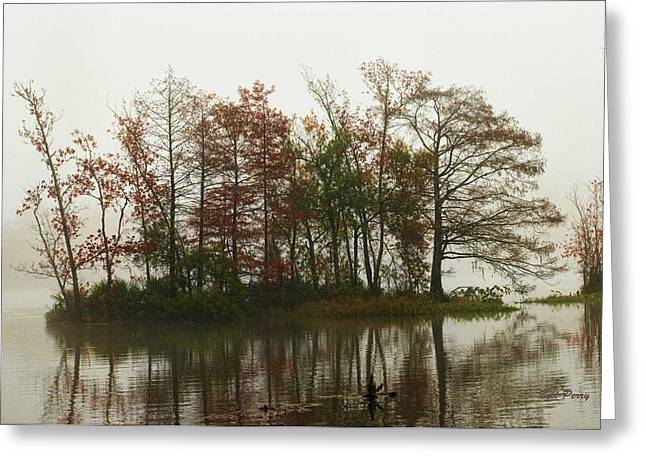 Fog On The River Greeting Card by Bill Perry