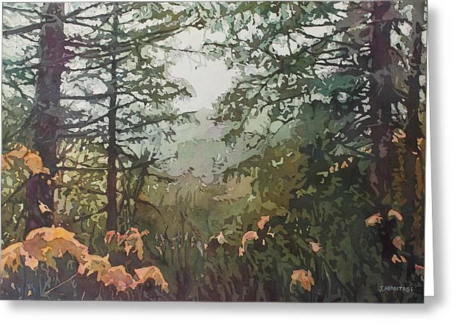 Fog Over Croisan Creek Greeting Card by Jenny Armitage