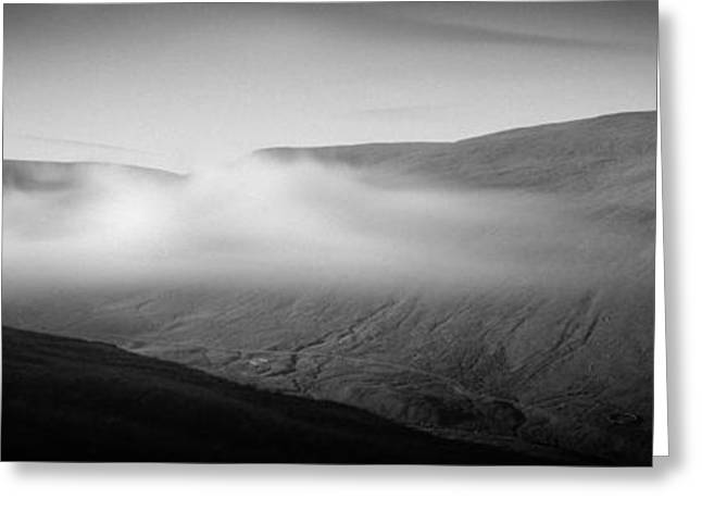 Fog Over Hills, Scottish Borders Greeting Card by Panoramic Images