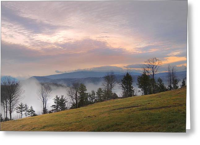 Fog Over The Connecticut River Valley Greeting Card