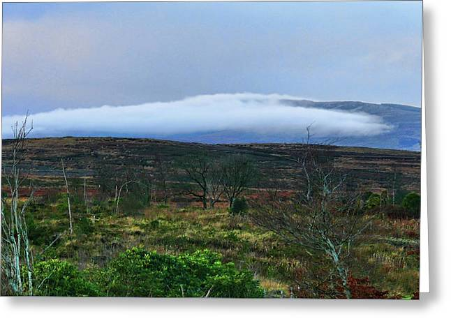 Greeting Card featuring the photograph Fog Rolling Across The Sperrins by Colin Clarke