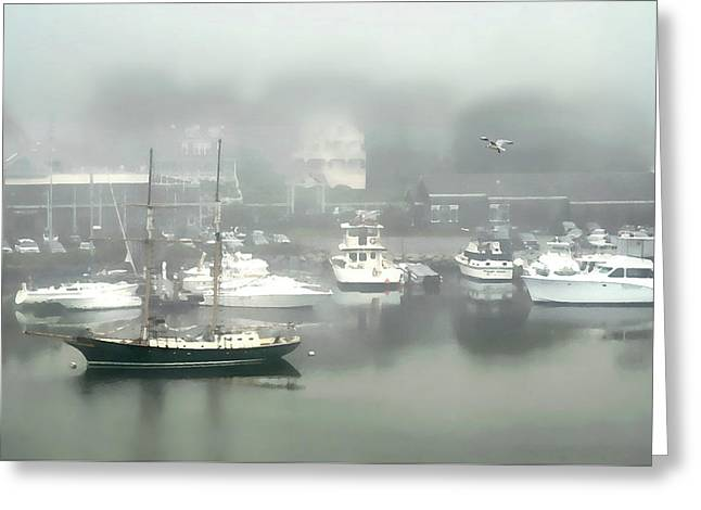 Fog Rolls In Greeting Card by Diana Angstadt