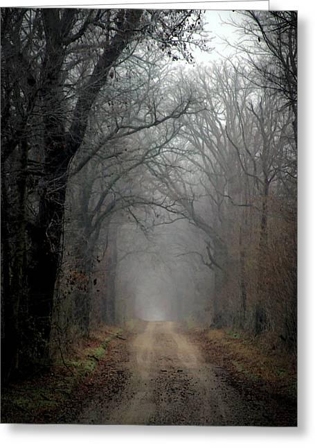 Fog Shrouded Lane  7861 Dp_2 Greeting Card