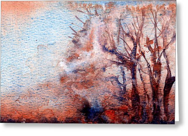 Watercolor Greeting Cards - Fog Greeting Card by Yevgenia Watts