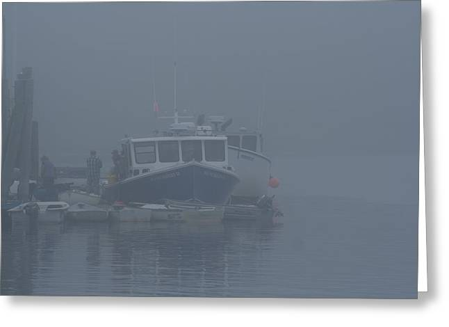 Fogged In At Owls Head Greeting Card