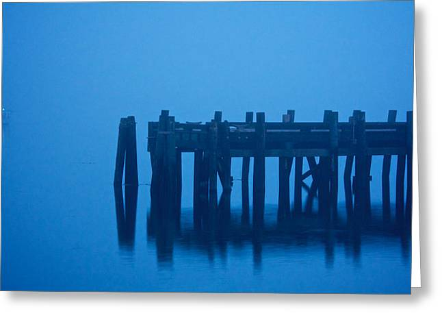 Shrouded In Fog, Morro Bay Greeting Card