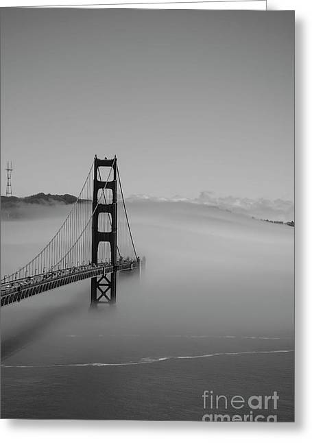 Greeting Card featuring the photograph Fogging The Bridge by David Bearden