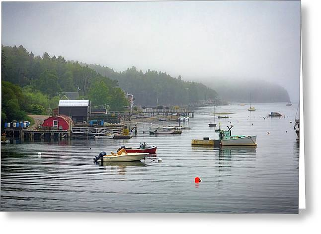 Foggy Afternoon In Mackerel Cove  Greeting Card by Rick Berk