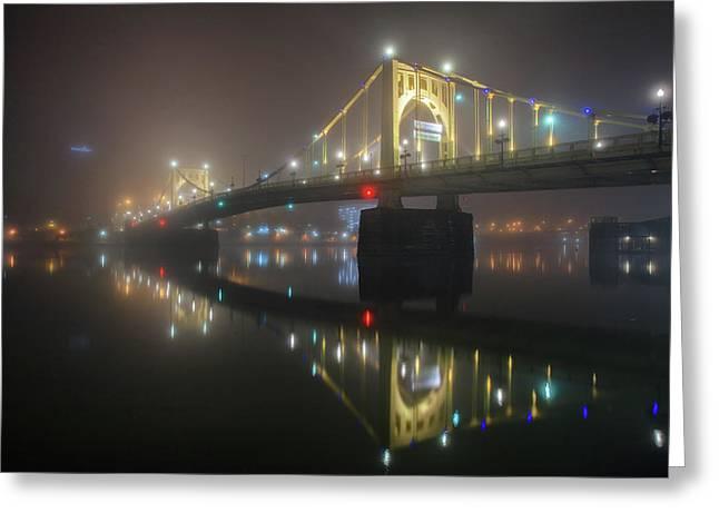 Foggy Allegheny River Greeting Card