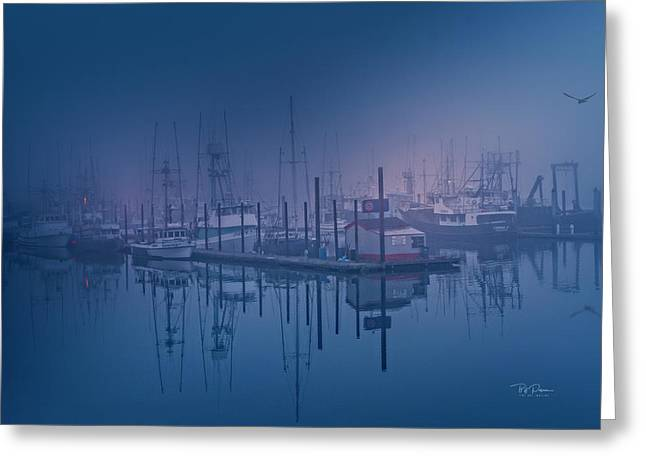 Foggy Bay Front Greeting Card