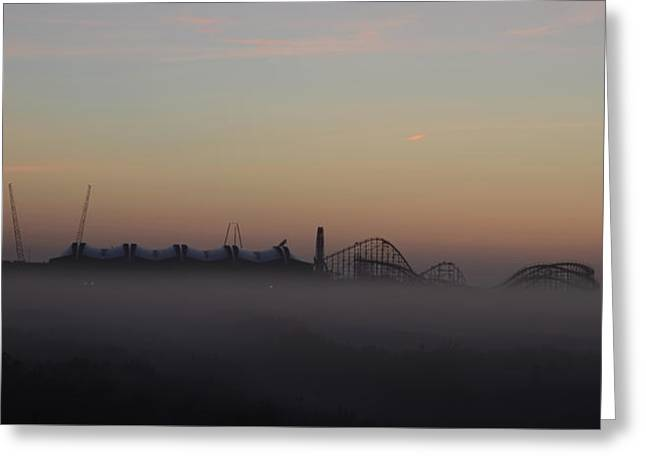 Foggy Beach In Wildwood Greeting Card
