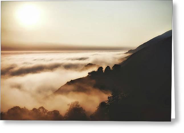 Foggy Big Sur Coastline Greeting Card