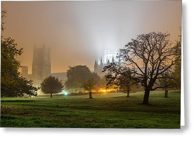 Foggy Cathedral Greeting Card
