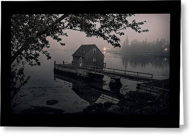 Foggy Cove And Shanty Greeting Card