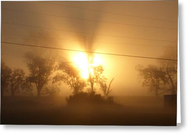 Heart In A Foggy Dawn Greeting Card