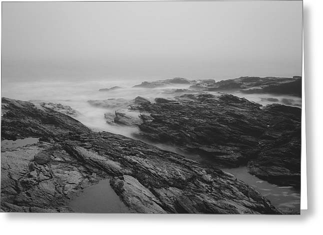 Foggy Day At Beavertail Greeting Card