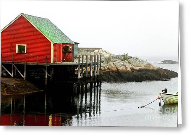 Greeting Card featuring the photograph Foggy Day On The Atlantic Ocean by Elaine Manley