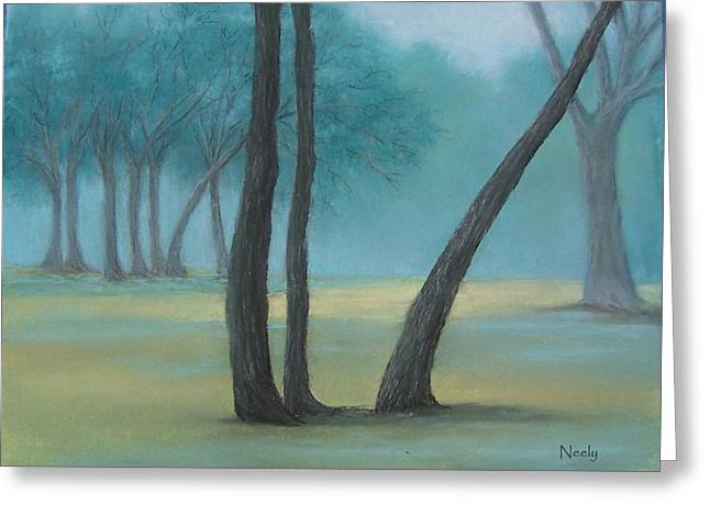 Neely Greeting Cards - Foggy Day Greeting Card by Pat Neely