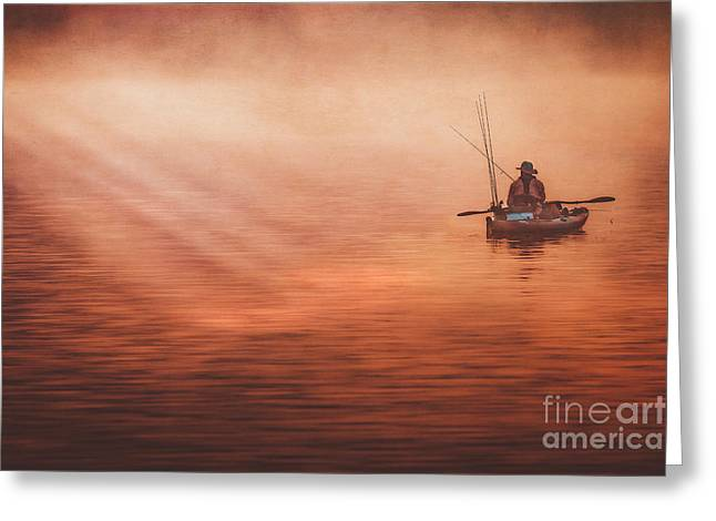 Foggy Daze Greeting Card by Larry McMahon
