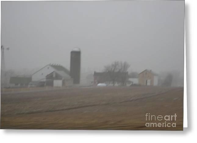 Foggy Evening Greeting Card