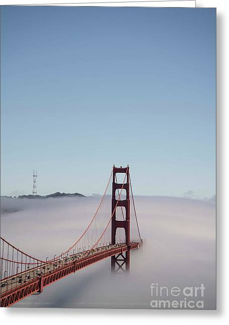 Greeting Card featuring the photograph Foggy Golden Gate by David Bearden